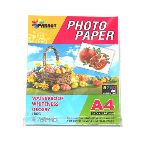 Giấy in ảnh 1 mặt bóng Jade A4/180 5760dpi GP-J01