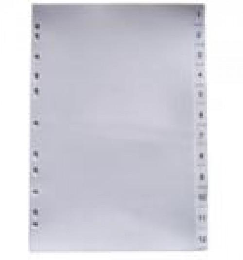 Phân trang nhựa 12 xám